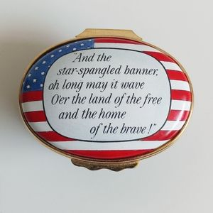 "Halcyon Days ""The Star Spangled Banner"" Enamel Box"
